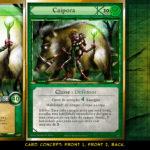 Conceito do design das cartas do jogo